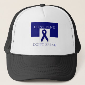 Indigo Ribbon- Don't Bend. Don't Break. DBI. Trucker Hat