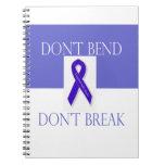 Indigo Ribbon -Don't Bend Don't Break Spiral Note Books