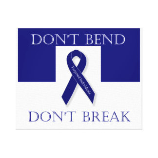 Indigo Ribbon. -Don't Bend. Don't Break. Wall Hang Canvas Print