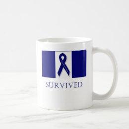 Indigo Ribbon- I Survived. DBI Coffee Mug