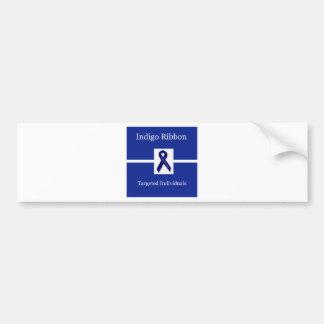 Indigo Ribbon  In Celebration Bumper Sticker