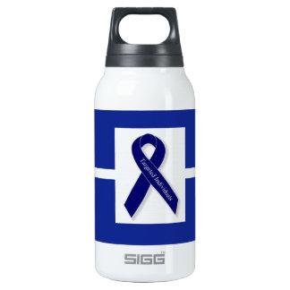 Indigo Ribbon  In Celebration Insulated Water Bottle