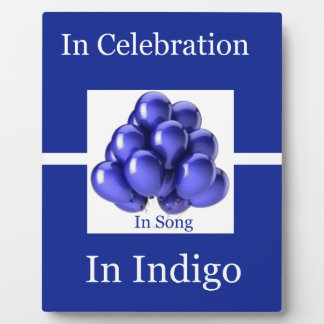 Indigo Ribbon -In Song Photo Plaques