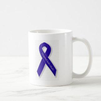 Indigo Ribbon Line Coffee Mug