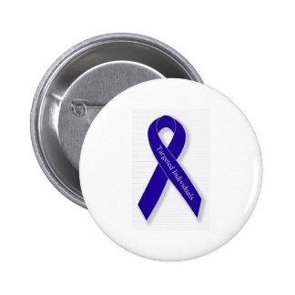 Indigo Ribbon Line Pinback Button