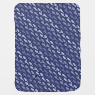Indigo Ribbon Seahorse Baby Blanket