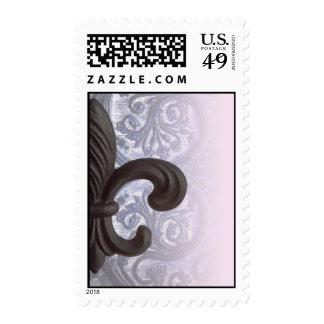 "indigo/rose ""iron fleur de lis"" stamps"