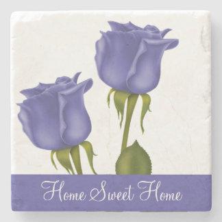 Indigo Roses Stone Coaster