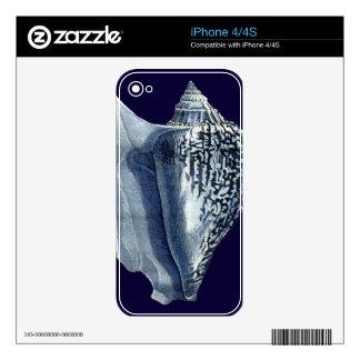 Indigo Shells I iPhone 4 Skins