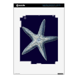 Indigo Shells IV Decals For iPad 3