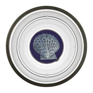 Indigo Shells VIII Bowl