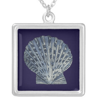 Indigo Shells VIII Silver Plated Necklace