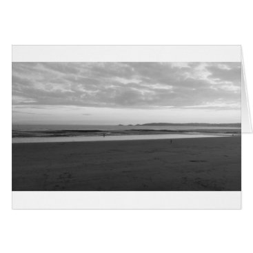 """Beach Themed Indigo Sky (Black & White)- (5"""" x 7"""") RBDStore Card"""