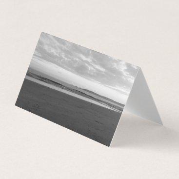 Beach Themed Indigo Sky (Black & White) - Tent Card RBDStore
