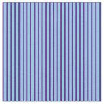 [ Thumbnail: Indigo & Sky Blue Stripes/Lines Pattern Fabric ]
