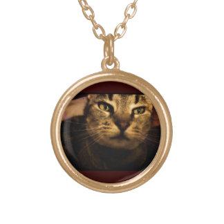 Indigo Smiles Round Pendant Necklace