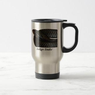 Indigo Snake 15 Oz Stainless Steel Travel Mug