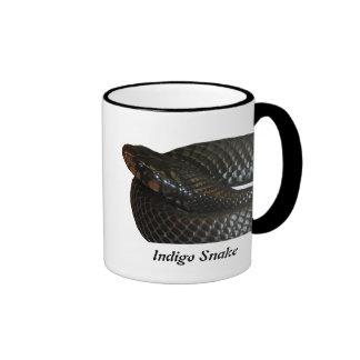 Indigo Snake Ringer Coffee Mug