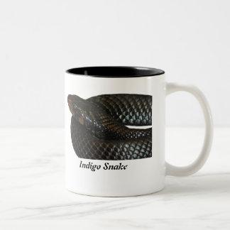 Indigo Snake Two-Tone Coffee Mug