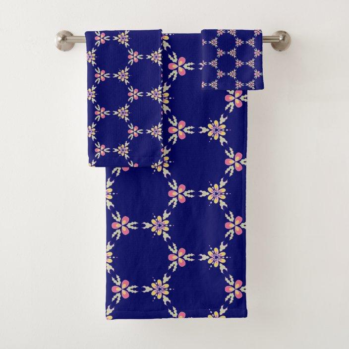 Indigo Spanish Mediterranean Tile Floral Pattern Bath Towel Set Zazzle Com,Luxury Modern Mansion Floor Plans 3d
