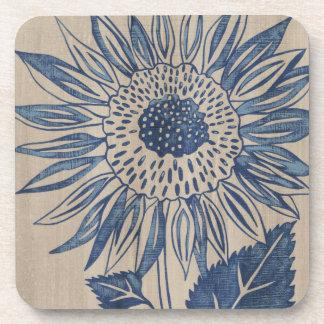 Indigo Sunflower Drink Coaster