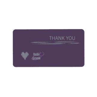 Indigo Thank You Gift Sticker