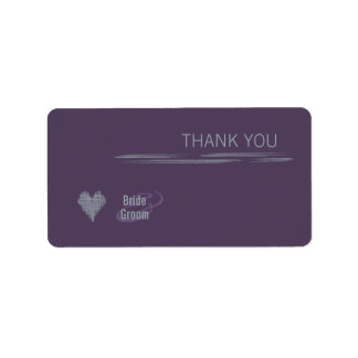 Indigo Thank You Gift Sticker Address Label