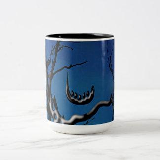 Indigo Tidings Madcap Grin Branches (Indigo)- Near Two-Tone Coffee Mug