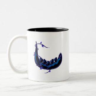 Indigo Tidings Madcap Grin (Crystalline) Two-Tone Coffee Mug