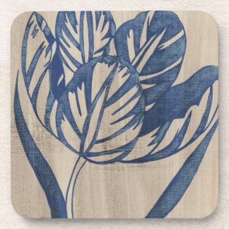 Indigo Tulip Beverage Coaster