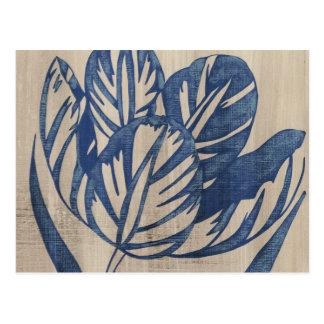 Indigo Tulip Postcard