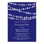 "Indigo Twinkle Lights Engagement Invitation 5"" X 7"" Invitation Card"