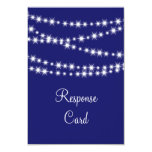 Indigo Twinkle Lights RSVP 3.5x5 Paper Invitation Card