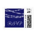 Indigo Twinkle Lights RSVP Stamp