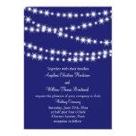 "Indigo Twinkle Lights Wedding Invitation 5"" X 7"" Invitation Card"