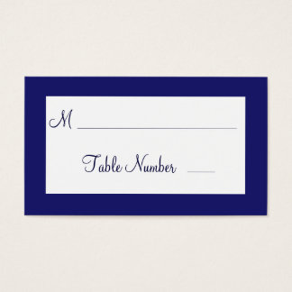 Indigo Twinkle Lights Wedding Place Cards