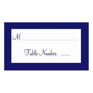 Indigo Twinkle Lights Wedding Place Cards Business Cards