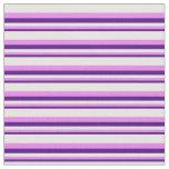 [ Thumbnail: Indigo, Violet, and Mint Cream Striped Pattern Fabric ]