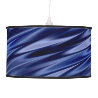 Indigo & violet blue satin style stripes lamps