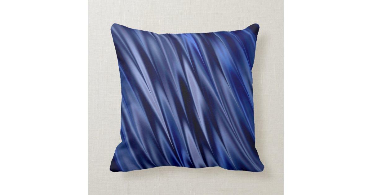 Blue Satin Throw Pillow : Indigo & violet blue satin style stripes throw pillow Zazzle