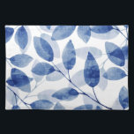 "Indigo Watercolor Leaves Placemat<br><div class=""desc"">Placemats printed with original watercolor leaves.</div>"