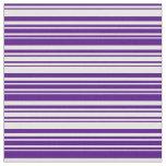 [ Thumbnail: Indigo & White Lines Pattern Fabric ]