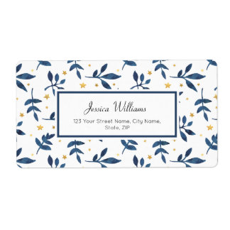 Indigo with gold faux stars label