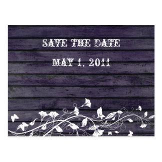 Indigo Wood Save the Date Postcard