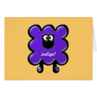 indigo woollie greeting card