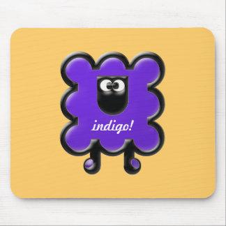 indigo woollie mouse pad