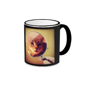 Indigo's Magnifying Glass Ringer Coffee Mug