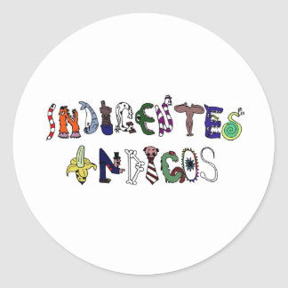 Índigos poors - logo of the band classic round sticker
