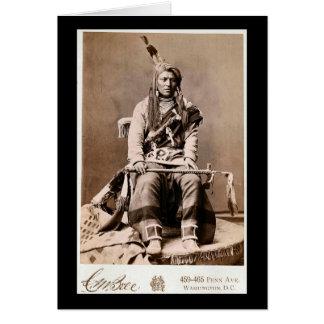 Indio 1880 del cuervo tarjeta de felicitación
