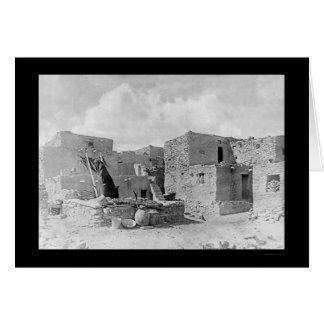 Indio 1895 del Hopi del pueblo de Oraibi Tarjeta De Felicitación